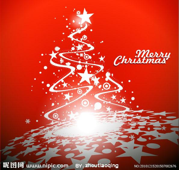 空心圣诞树剪纸步骤图解